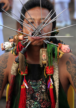 Thai Piercing and Pain Festival (Warning: Graphic) picture