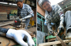 Poor Chinese Amputee Builds His Own Prosthetic Arms: