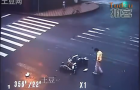 Chinese Man Survives Gnarly Motorcycle Crash: