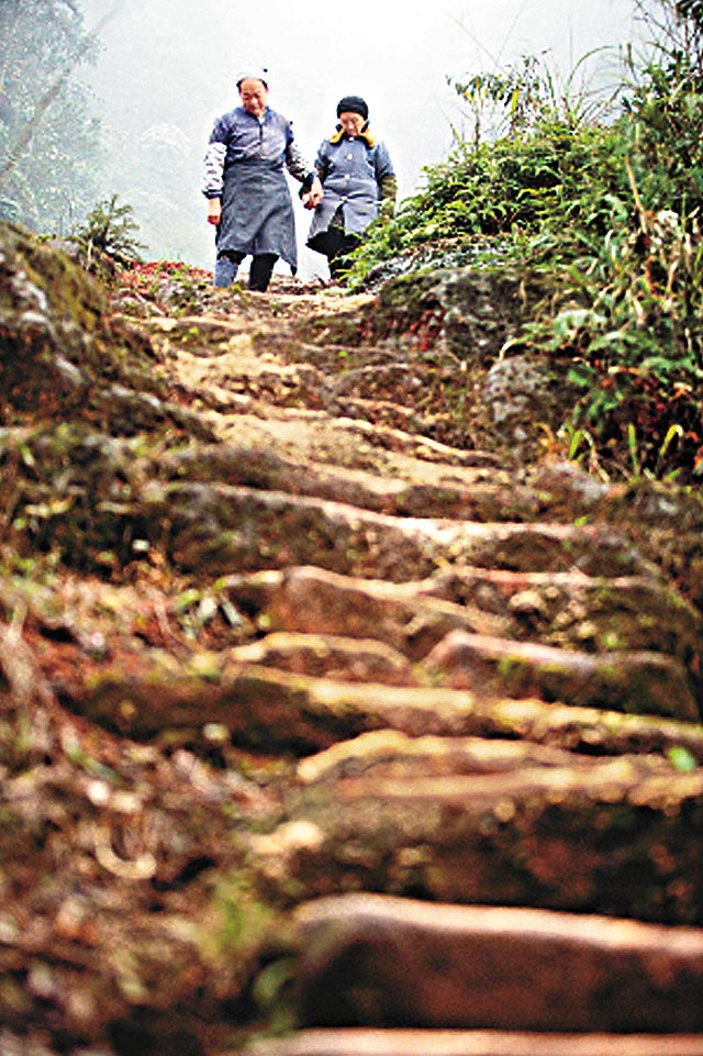 Man Carves Wife a 6,000 Stair Path in Mountain picture