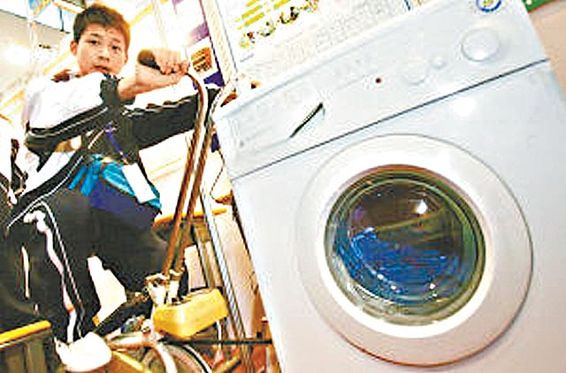 China Invents the Bike Washing Machine picture