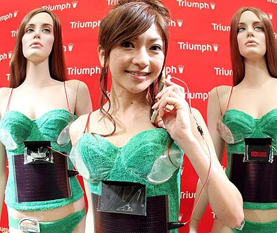 Solar Powered Bra: Turning Lingerie Green