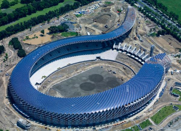 Taiwan's Dragon Stadium Turns Sunshine into Power  picture