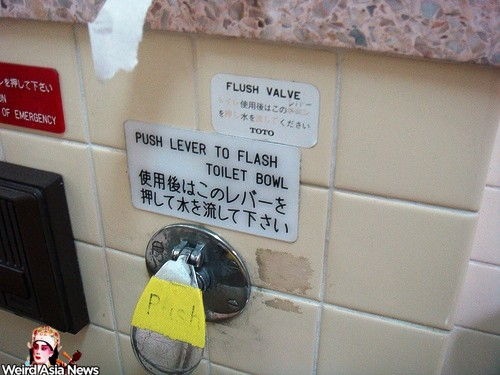 push-lever-to-flash-toilet-bowl