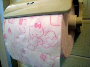hello kitty toilet paper 300x225 Hello Kitty: The Funny, The Weird, And The Horrifying picture