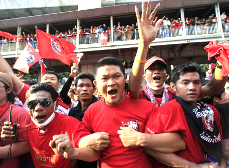 Red Shirt Thai Protesters Extending Their Act picture