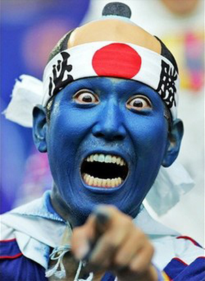 Japanese Pope Hats: World Cup Fans Run Amuck? picture