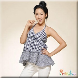 Gingham Tiered Halter Top