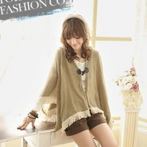 Hooded Fringed Toggle Poncho