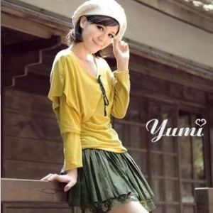 Inset Capelet Long Sleeve Top