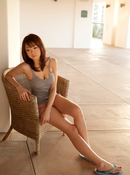 Shizuka in grey top on the chair