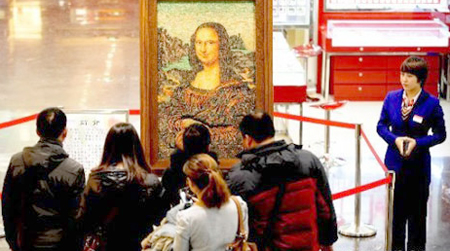 Bejeweled Mona Lisa Replica: For The Discerning Art Collector  picture