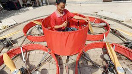 IFO1 Chinese Farmer Builds and Flies Identified Flying Object  picture