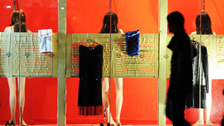 Women Shower in China Window Display  picture
