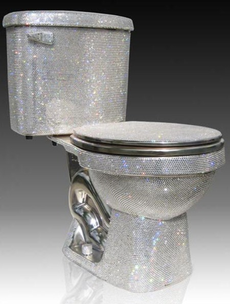 Japanese Company Creates $100,000 Diamond encrusted Toilet picture