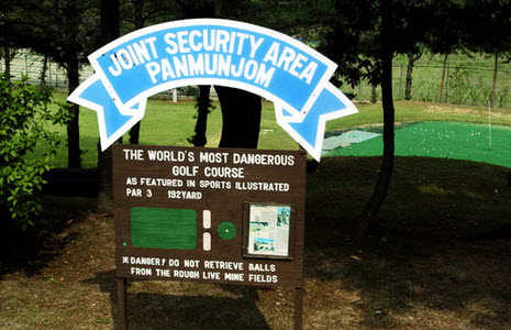 Worlds Most Dangerous Golf Course One hole Golf Course in Korean DMZ Is Worlds Most Dangerous picture
