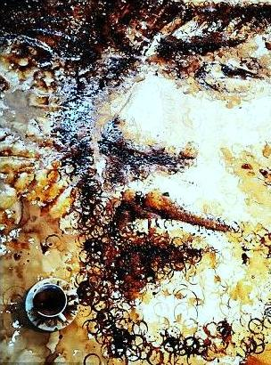 Malaysian Artist Makes Portraits Using Coffee Stains and Basketballs picture