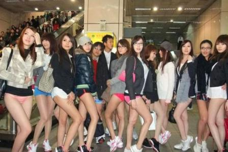 A Sexy Twist on No Pants Day in Taiwan picture