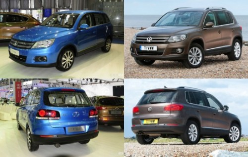Tiguan 550x350 500x318 Chinas Automobile Imitations Set to Cruise Control picture