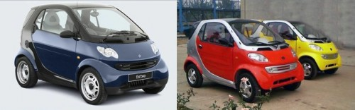 minicar 500x156 Chinas Automobile Imitations Set to Cruise Control picture