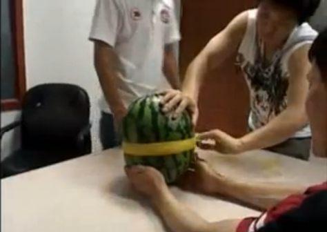 The Ultimate in Korean Entertainment: Rubber Band vs. Watermelon picture