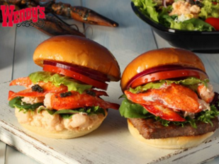 Wendy's Lobster Surf and Turf Burger Japan's Bizzare Fast Food Products picture