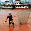 Chinas Yangtze River Seeing Red picture