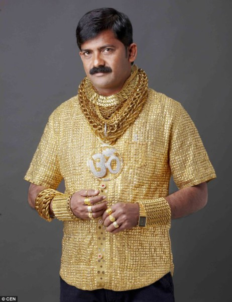 Lonely Indian Man Spends £14,000 on a Gold Shirt picture
