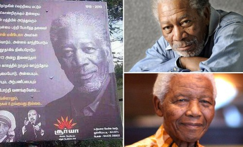 Billboard Mistakenly Depicted Morgan Freeman As Mandela picture