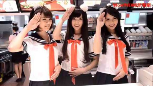 Taiwan McDonalds Cashiers Don Sailor Outfit picture