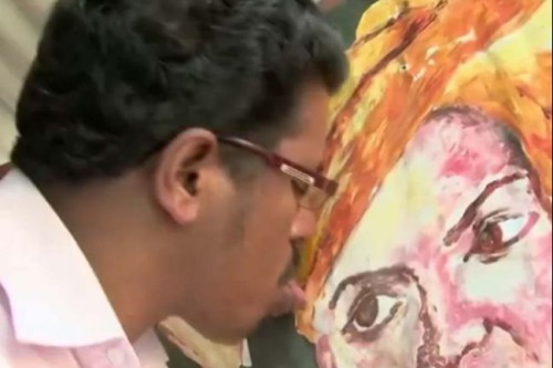 Indian Painter Puts a New Spin on Artistic 'Taste'