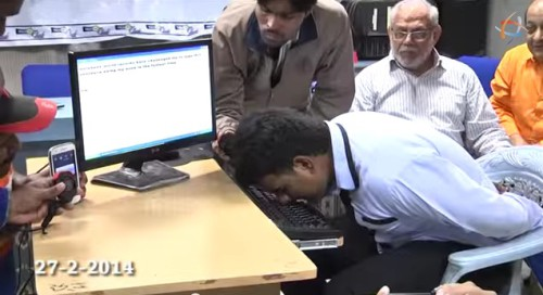 Indian Man Holds Guinness Record As Fastest Nose Typist picture