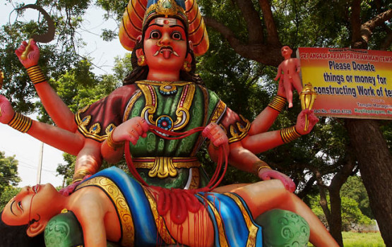 Weird Religous Statue from Southern India