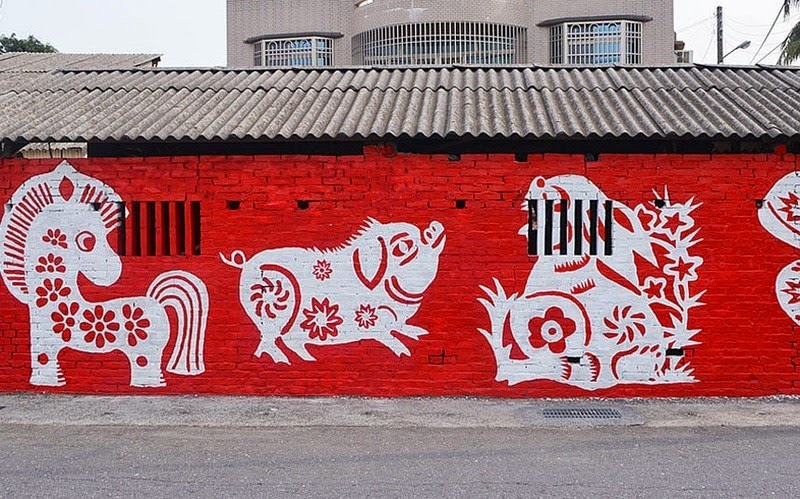 Colorful Murals Bring a Taiwanese Village to Life