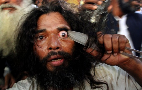 Sufis Eye Gouging Ritual in India