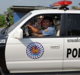 Cambodian traffic police officer