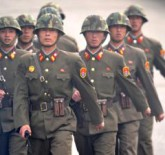 North Korean Special Forces Marching in formation